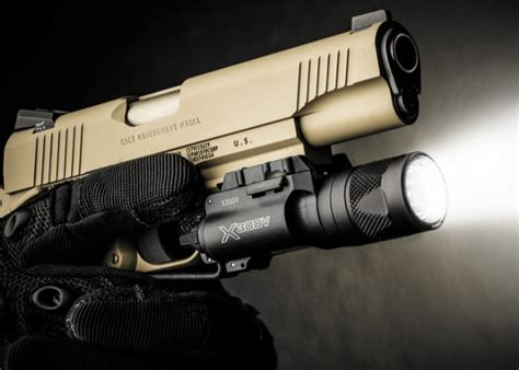surefire x300 weapon light surefire x300v led ir laser weaponlight 350 lumens