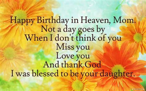 Happy Birthday To My In Heaven Quotes Happy Birthday Quotes For My Mom In Heaven Image Quotes At
