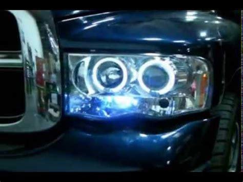 spec d halo projector headlights leds dodge ram 2002