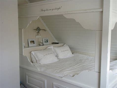 another built in bed under eaves cozy attic rooms under