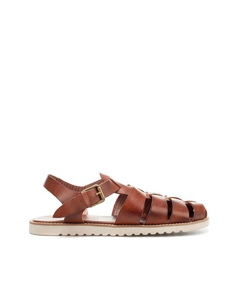 brown jelly sandals zara jelly shoes in brown for lyst