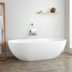 free standing bathtubs 70 quot eira resin freestanding tub freestanding tubs