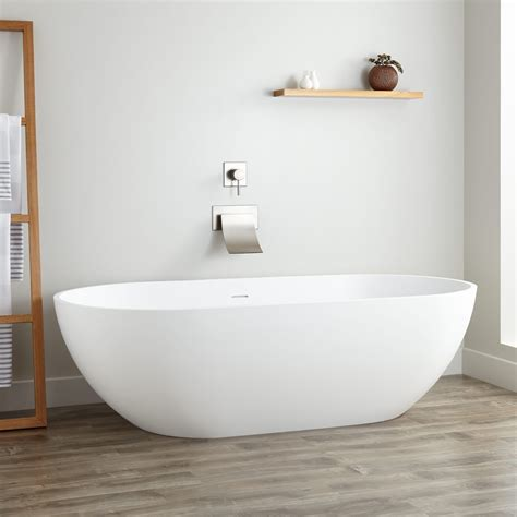 Free Standing Bathtubs by 70 Quot Eira Resin Freestanding Tub Freestanding Tubs