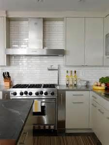 Modern Kitchen Backsplash by Cameron Macneil Modern Off White Kitchen Design With Soft
