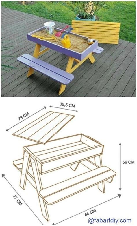 how to build a sand table diy sandbox picnic table
