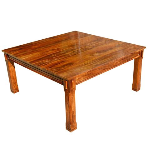 rustic square dining table rustic solid wood square block legs dining table
