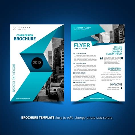Brochure Template Design Vector Free Download C Flyer Template