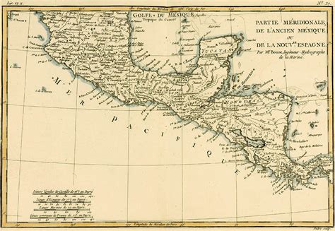 map southern mexico antique map of southern mexico drawing by guillaume raynal