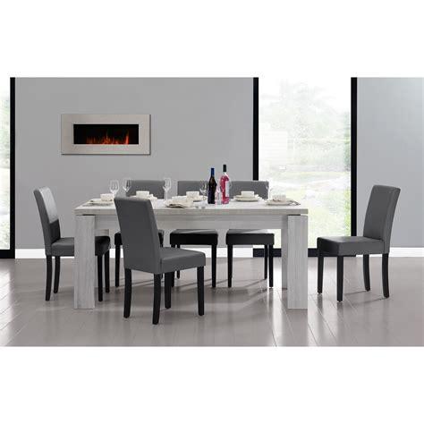 moderne speisesaal tisch sets en casa 174 esstisch 180x95 eiche weiss 6 st 220 hle