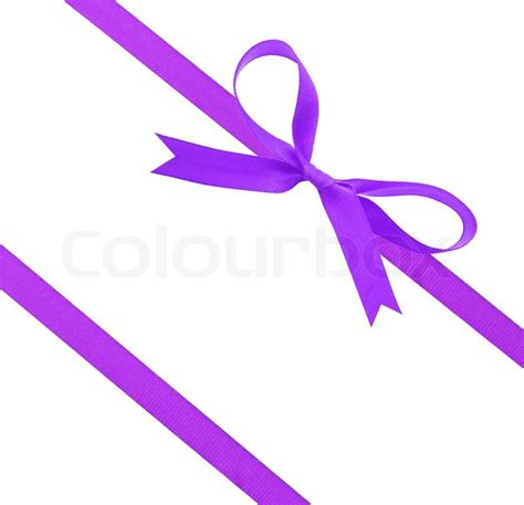 purple christmas ribbon purple ribbon and bow stock photo colourbox