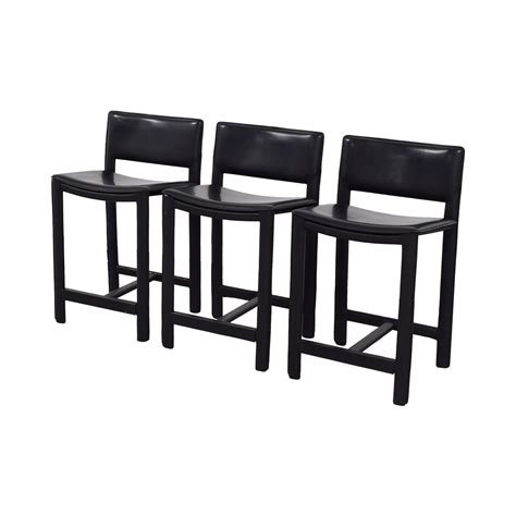 room and board bar stools 86 room and board room and board sava black leather bar stools chairs