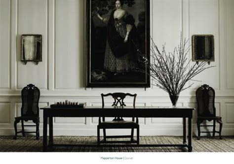 jasper conran rugs mapperton house dorest interior desk with panelled walls country book by jasper