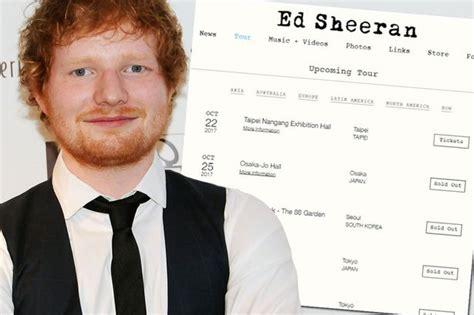 ed sheeran website ed sheeran s official website is still linking to ticket