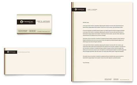 Financial Planning Business Cards Templates by Financial Services Letterheads Templates Designs