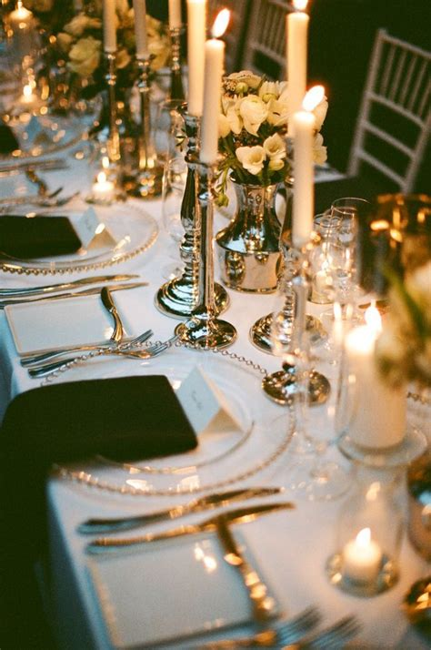 Elegant Table Settings | reception decor once wed elegant table settings gold