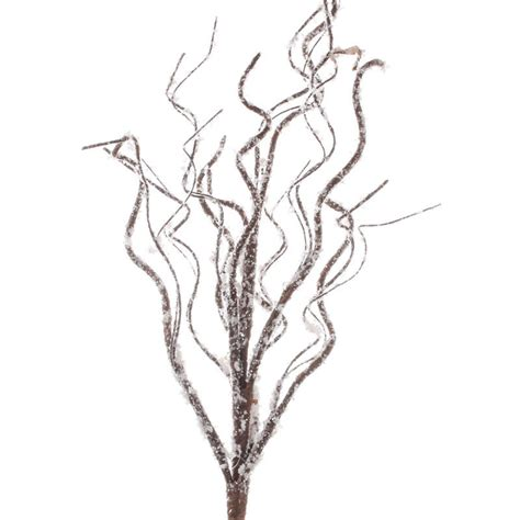 snowy artificial twig branch picks and stems floral