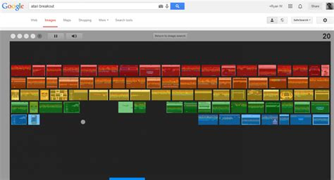 google images atari breakout google atari breakout latest easter egg transforms