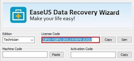 easeus data recovery serial key free 2018