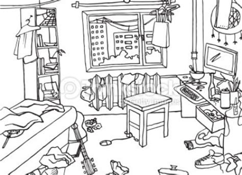messy house coloring page room clipart badroom pencil and in color room clipart