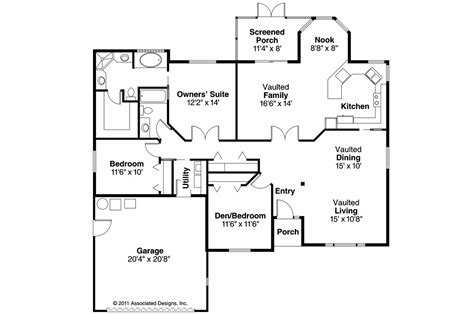 Southwest Floor Plans Southwest House Plans Verona 11 074 Associated Designs