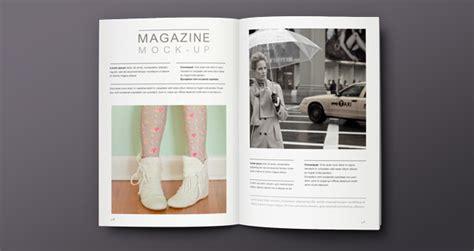 Overhead View Magazine Mockup   Psd Mock Up Templates
