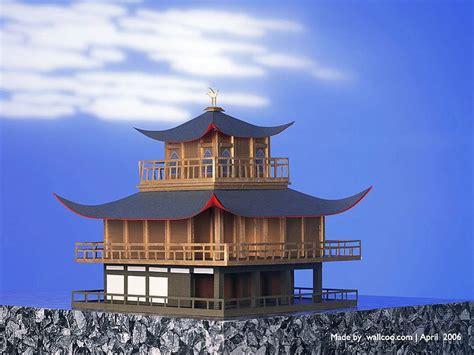 architecture model galleries famous architecture buildings temple of the golden pavilion paper model of golden