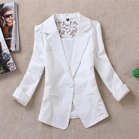 Jaket Jas Blazer Fasionable Putih 25 best ideas about lace blazer on lace
