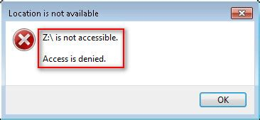 drive is not accessible quot hard drive is not accessible access is denied quot error