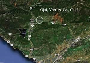 map ojai california my pinkerton family ventura co ca
