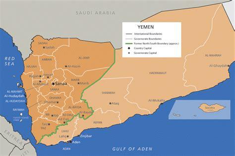 yemen map yemen acaps