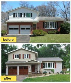 best 20 split level exterior ideas on split entry remodel exterior split level