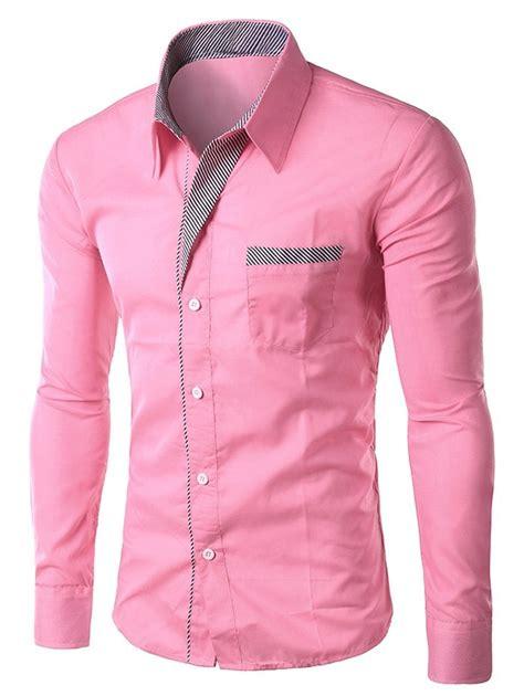 G B2 Sweater Polka Pink Xl sleeves pink xl stripe panel casual sleeve shirt gamiss