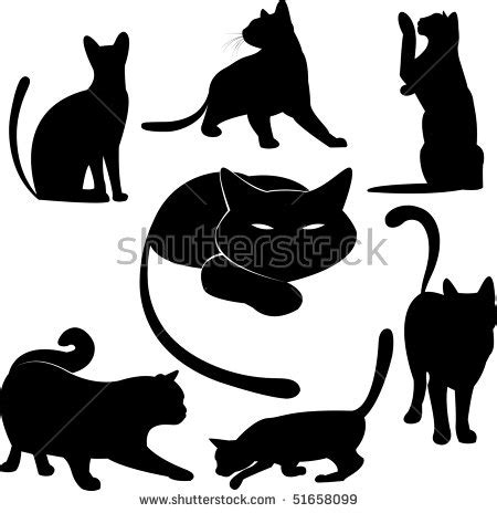 tattoo black cat silhouette stock images similar to id 68164246 vector tattoo black cat