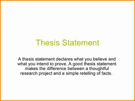 what s a 5 whats a thesis statement authorization letter