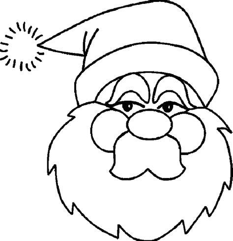 coloring page santa face santa face coloring pages az coloring pages