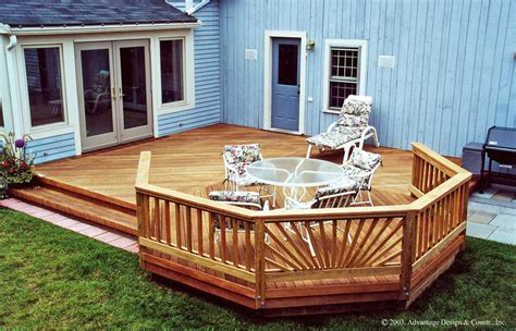 wood patio decks designs pictures wood deck patio idea