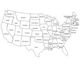 map of usa with states labeled
