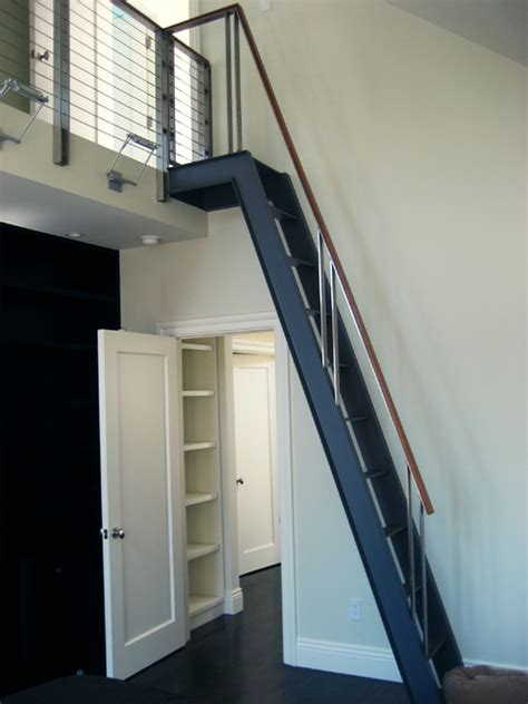 Refurbished Kitchen Cabinets by Gough Street Ladder Modern Staircase San Francisco