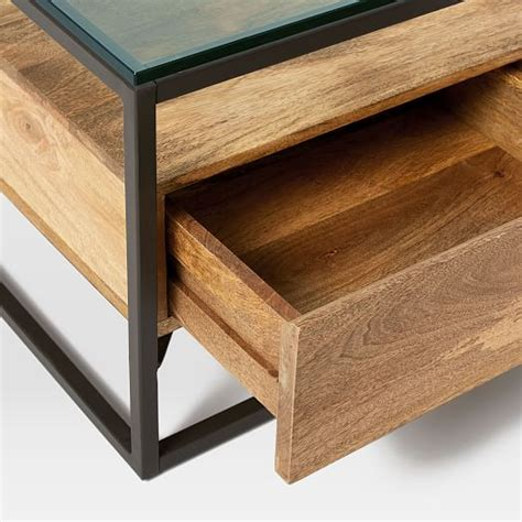 Box Frame Coffee Table Box Frame Storage Coffee Table West Elm