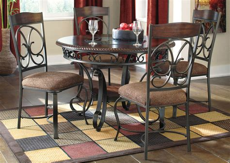 table for 4 harlem furniture glambrey dining table w 4 side chairs