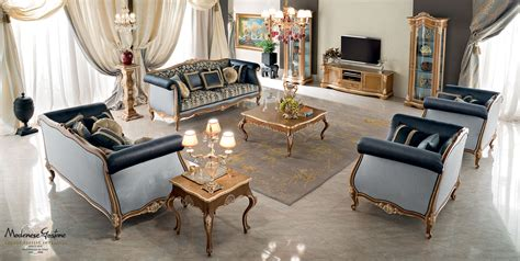 luxury living room furniture collection classic salon with upholsteries embroidered by and briar root decorations living room