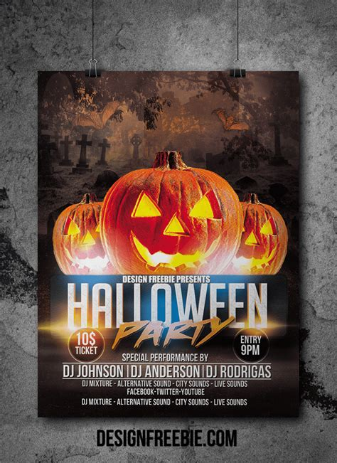 halloween templates for flyers free halloween party flyer psd template free flyer design
