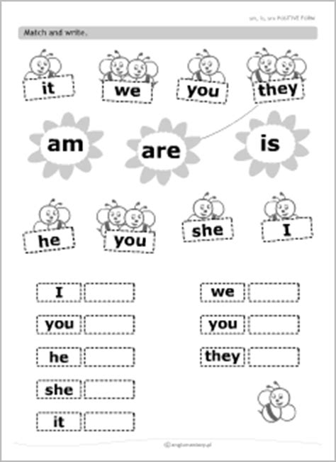 printable english worksheets verb to be verb be grammar worksheets for kids learning english