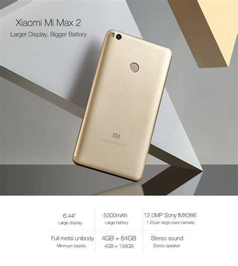 Xiaomi Mi Max 2 4 64 Gold Global New xiaomi mi max2 4gb 64gb smartphone gold