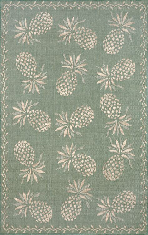 botanical rug thatcher pineapple aqua ivory 486673 rug from the botanical rugs collection at modern area rugs