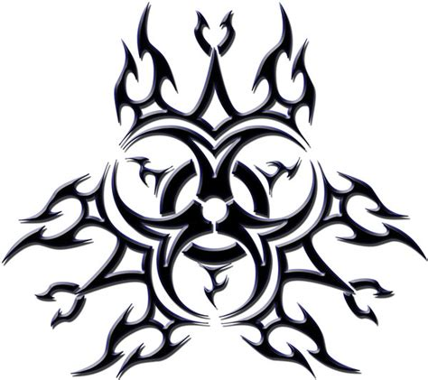 biohazard tribal tattoo biohazard tribal by blakewise on deviantart