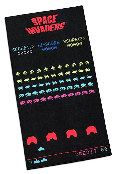 Space Rug Space Invaders Screenshot Printed Rug Thinkgeek