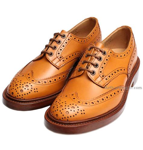 trickers bourton acorn brogue shoes from arthur