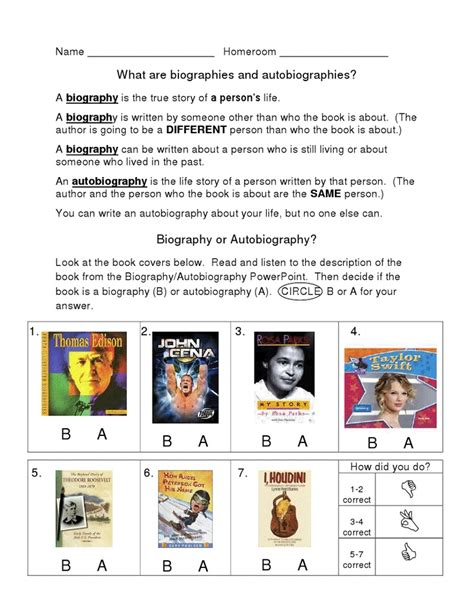 biography and autobiography sorting activity 204 best images about biography project on pinterest