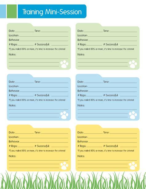 mini printable food journal dog training resource free mini session training